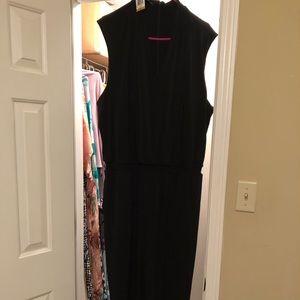LBJ, little black jumpsuit